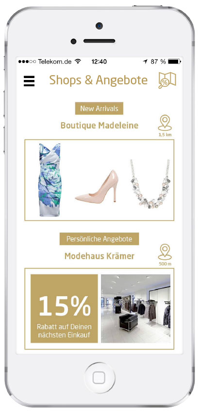 Fashboom Feature individuelle Angebote